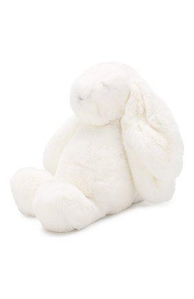 Детского меховая игрушка кролик  YVES SALOMON ENFANT белого цвета, арт. 20WEA316XXREXX | Фото 2