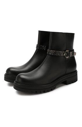 Детские кожаные ботинки MISSOURI черного цвета, арт. 85837M/35-41 | Фото 1