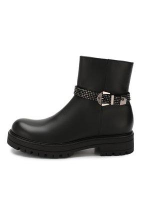 Детские кожаные ботинки MISSOURI черного цвета, арт. 85837M/35-41 | Фото 2