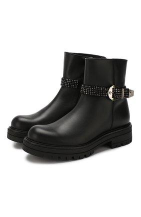 Детские кожаные ботинки MISSOURI черного цвета, арт. 85837M/27-30 | Фото 1