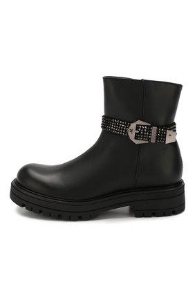 Детские кожаные ботинки MISSOURI черного цвета, арт. 85837M/27-30 | Фото 2