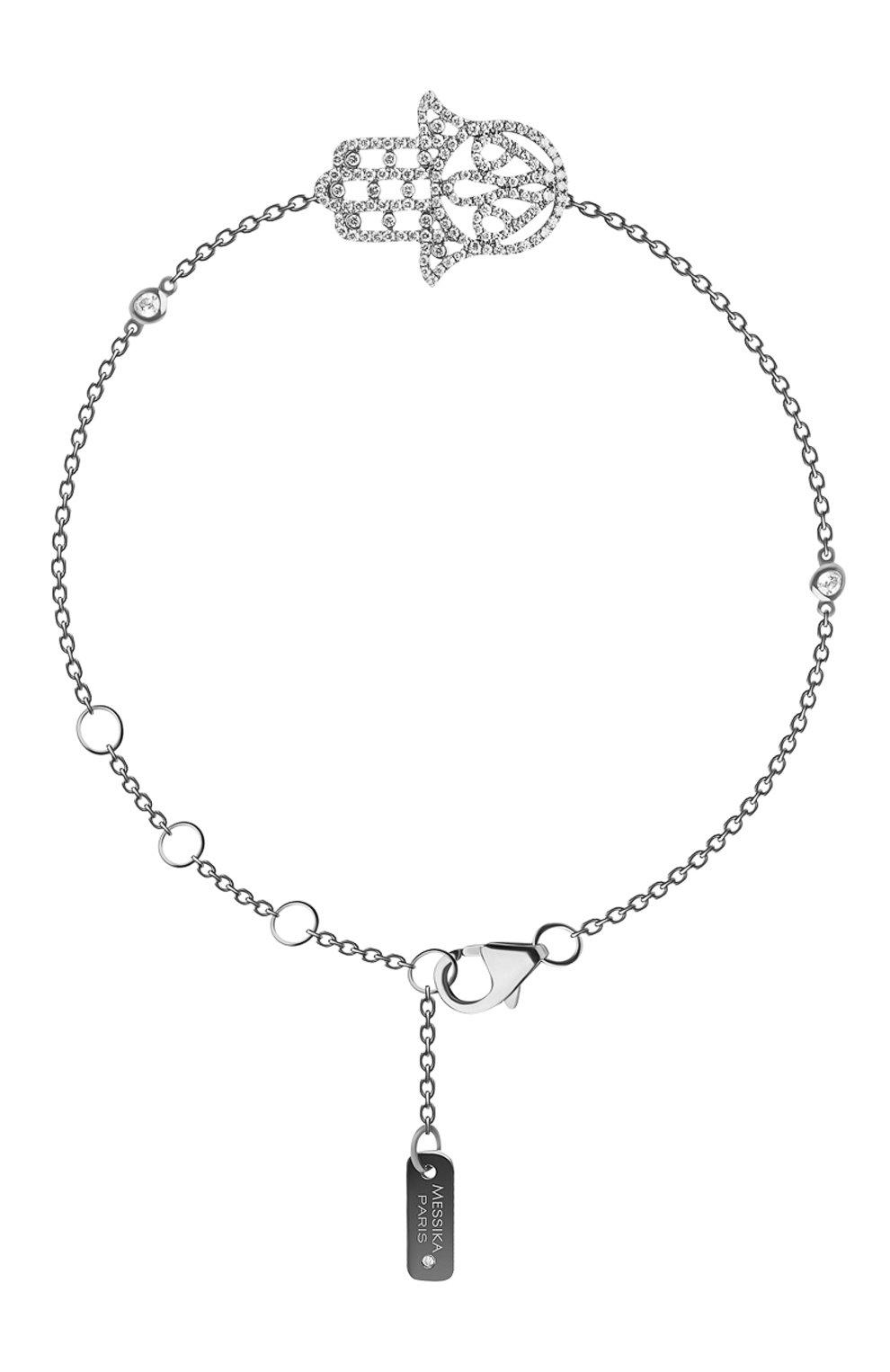Женские браслет MESSIKA белого золота цвета, арт. 04470-BG   Фото 1