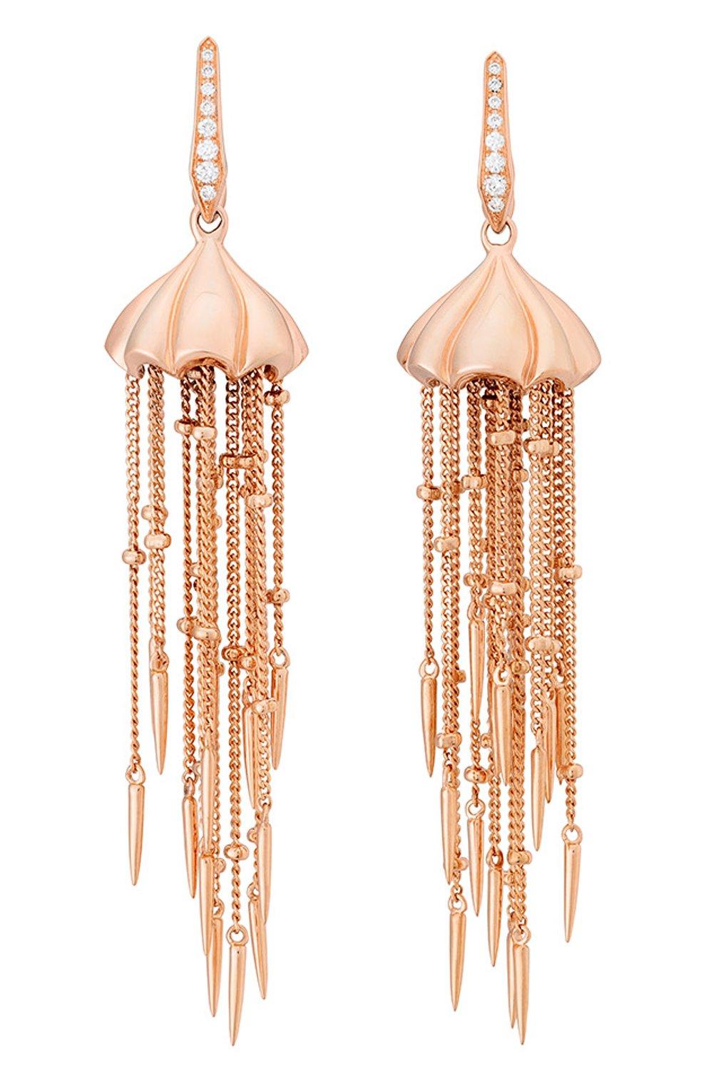 Женские серьги STEPHEN WEBSTER розового золота цвета, арт. 3018671 | Фото 1