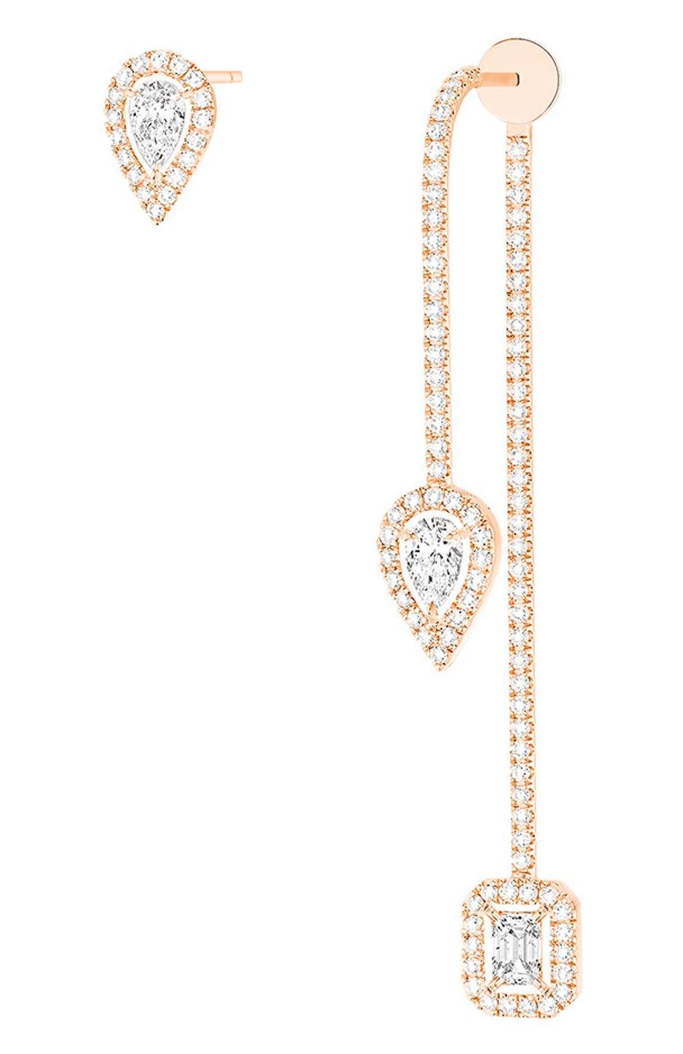 Женские серьги MESSIKA розового золота цвета, арт. 07224-PG | Фото 1