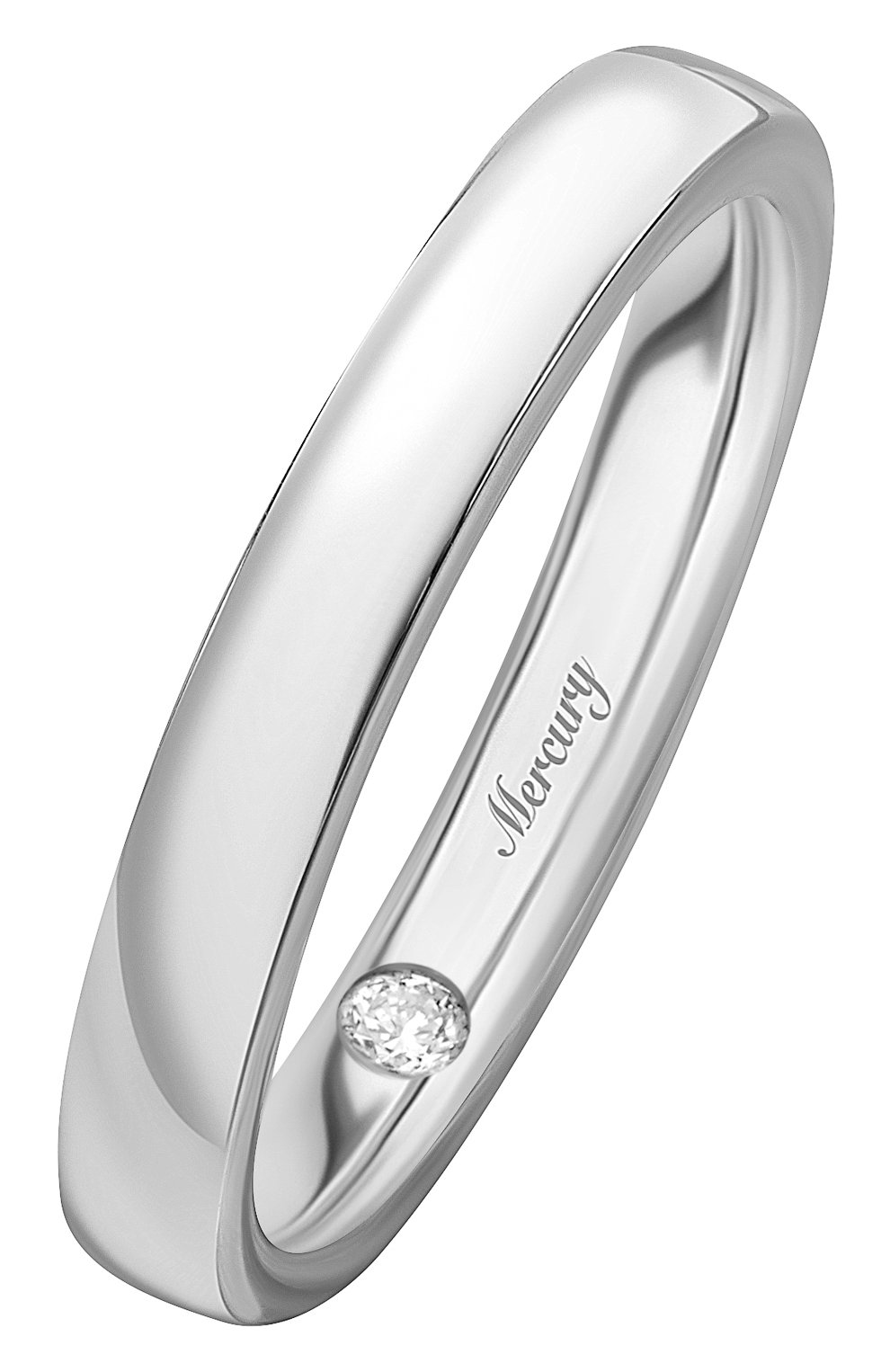 Женские кольцо MERCURY белого золота цвета, арт. MWR/3.0/WG/1RD0.05 | Фото 1