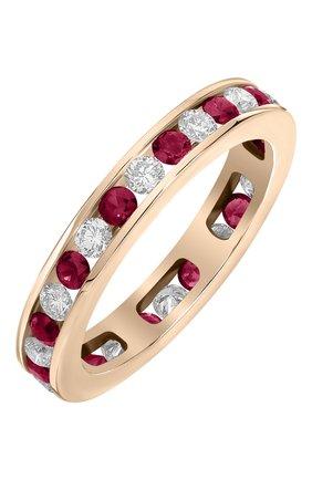 Женские кольцо MERCURY бесцветного цвета, арт. MR22375/RG/1RDRU0.05 | Фото 1 (Драгоценные камни: Бриллианты; Материал сплава: Розовое золото)