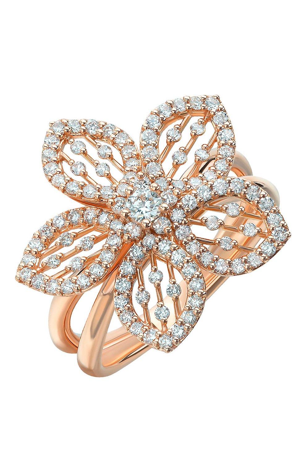 Женские кольцо MERCURY бесцветного цвета, арт. MR24979/RG/FLSM   Фото 1 (Драгоценные камни: Бриллианты; Материал сплава: Розовое золото)
