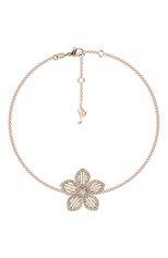 Женский браслет MERCURY бесцветного цвета, арт. MB24979/RG/FLSM | Фото 1 (Материал сплава: Розовое золото; Драгоценные камни: Бриллианты)