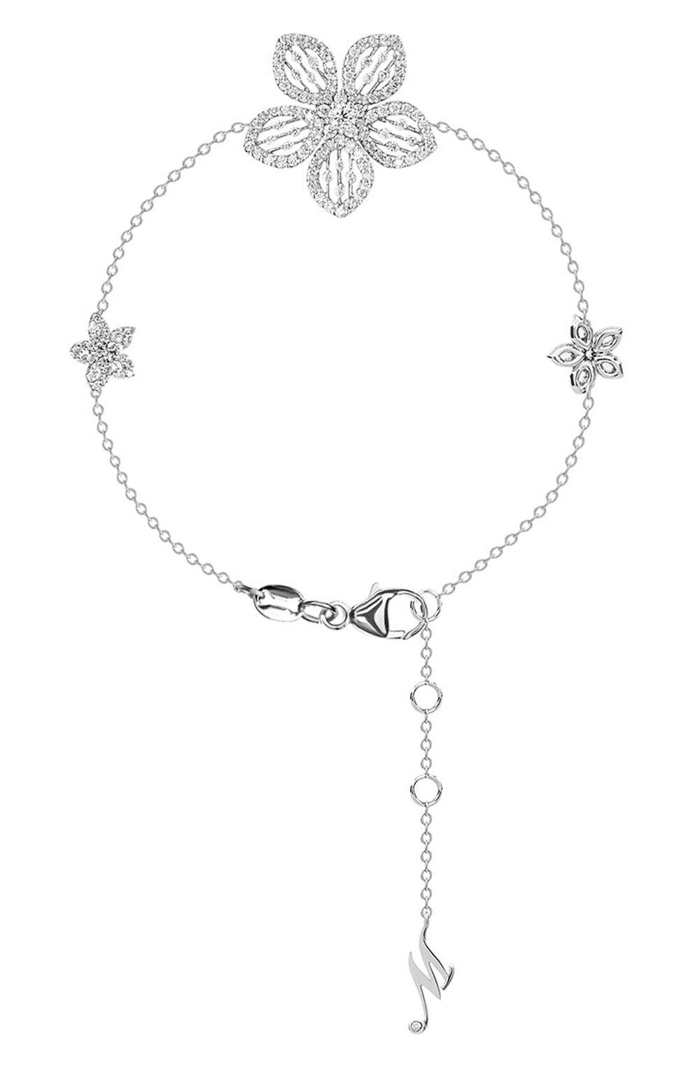 Женские браслет MERCURY белого золота цвета, арт. MB24979/WG/3FLSM | Фото 1