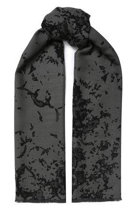 Мужской шерстяной шарф BERLUTI черного цвета, арт. T16SJ63-001 | Фото 1