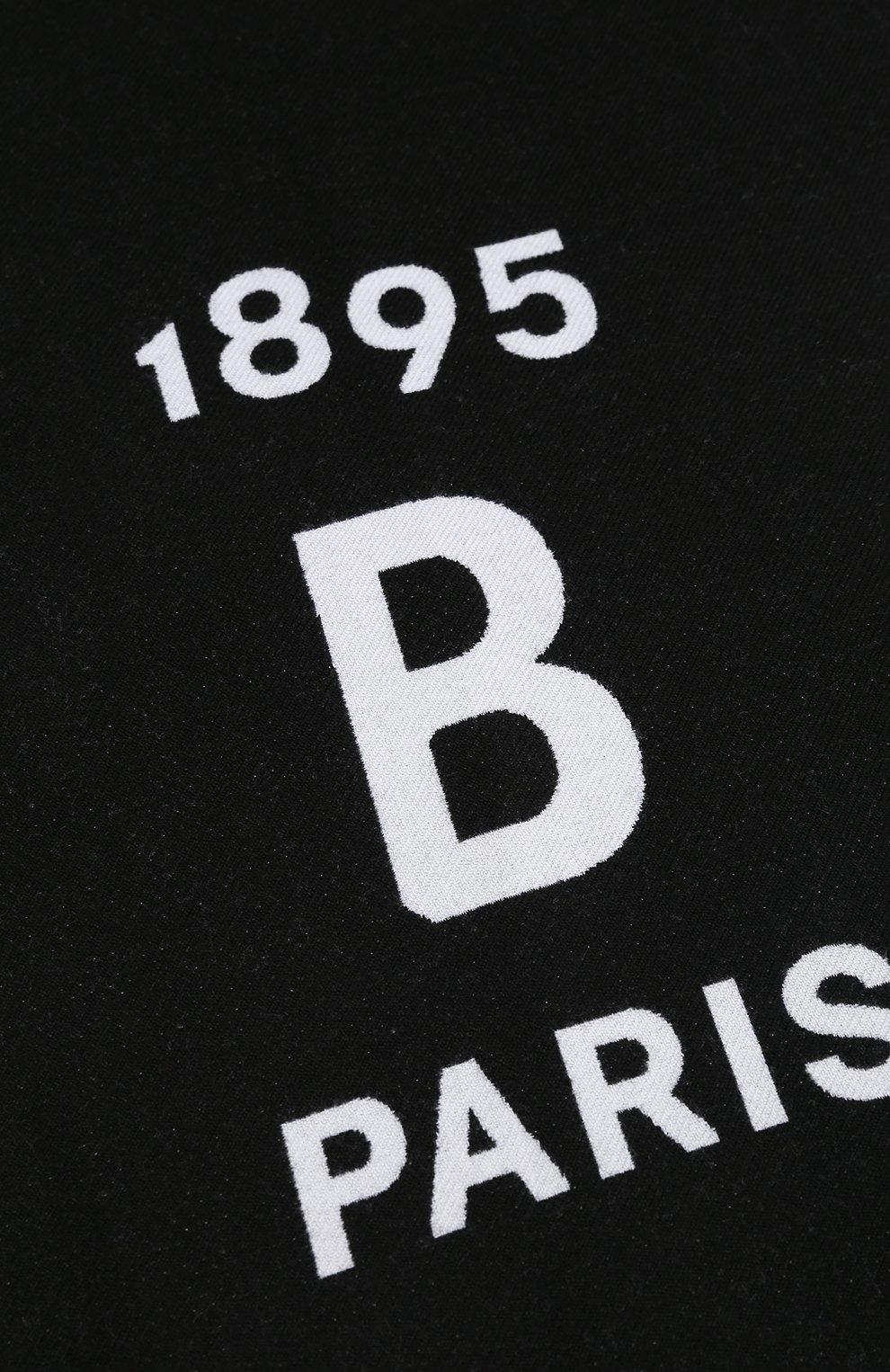 Мужской шерстяной шарф BERLUTI черно-белого цвета, арт. T16SJ49-001   Фото 2