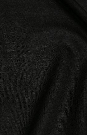 Мужской шарф из смеси шелка и шерсти BERLUTI черного цвета, арт. T16SJ38-001   Фото 2