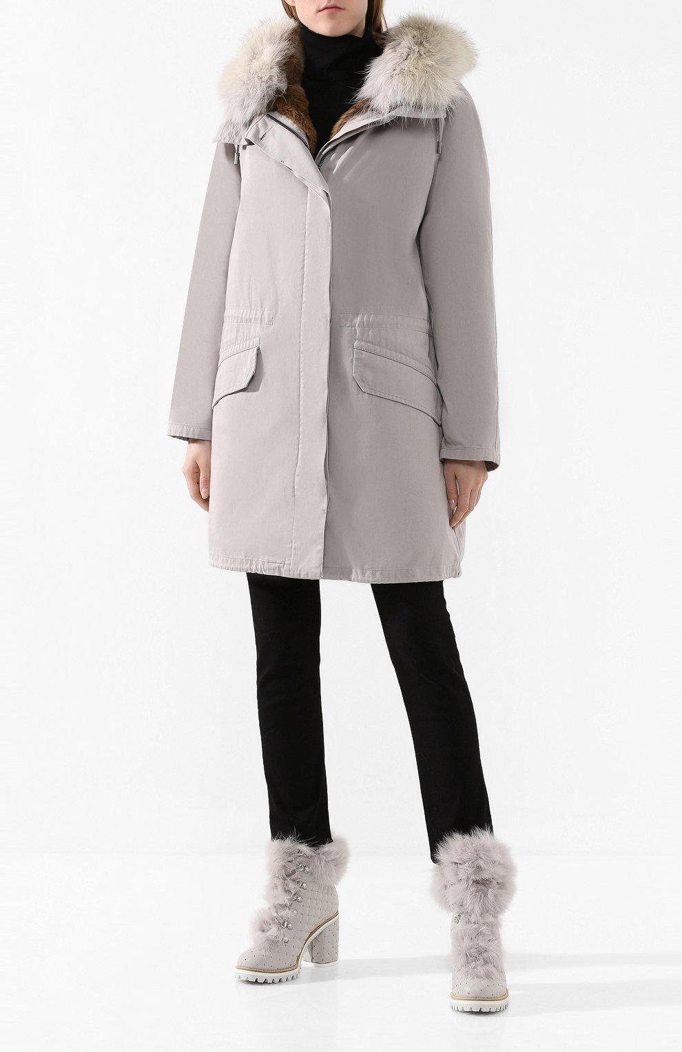 Женские кожаные ботильоны LE SILLA светло-серого цвета, арт. 7495M080M1LLCHI | Фото 2