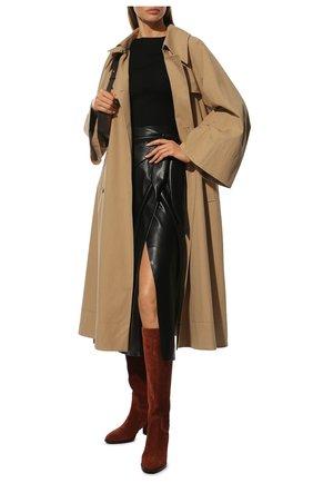 Женские замшевые сапоги TOD'S коричневого цвета, арт. XXW83B0BP40BYE | Фото 2