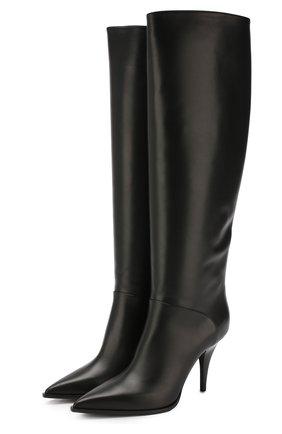 Женские кожаные сапоги CASADEI черного цвета, арт. 1S032N0901BABYC9000 | Фото 1