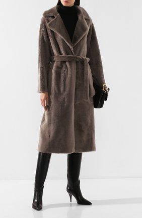 Женские кожаные сапоги CASADEI черного цвета, арт. 1S032N0901BABYC9000 | Фото 2