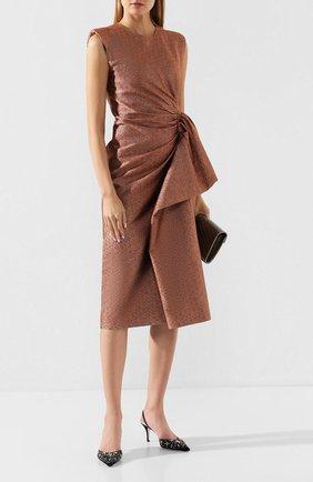 Женская текстильные туфли sanderella RENE CAOVILLA черного цвета, арт. C10280-075-RV05V295 | Фото 2