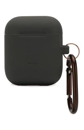 Чехол для airpods ELAGO серого цвета, арт. EAPSC-HANG-DGY   Фото 1 (Статус проверки: Проверена категория)