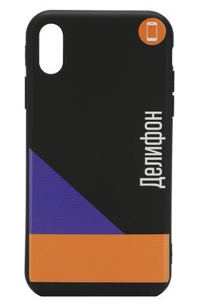 Мужской чехол для iphone xr MISHRABOO черного цвета, арт. Делифон Xr | Фото 1