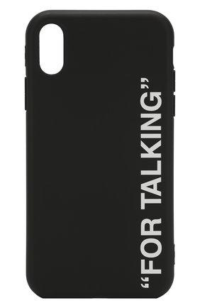 Мужской чехол для iphone xr MISHRABOO черного цвета, арт. For talking black Xr | Фото 1