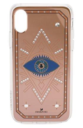 Мужской чехол для iphone x/xs SWAROVSKI разноцветного цвета, арт. 5507388 | Фото 1