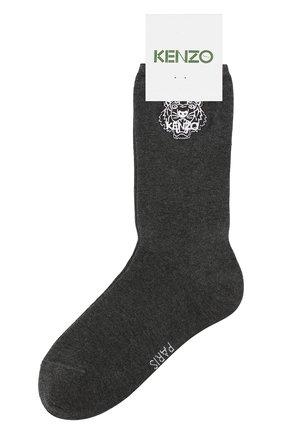 Женские хлопковые носки KENZO темно-серого цвета, арт. F858SW240JSE | Фото 1