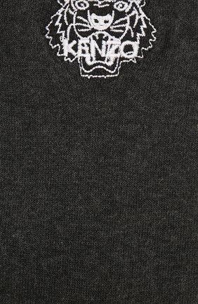 Женские хлопковые носки KENZO темно-серого цвета, арт. F858SW240JSE | Фото 2