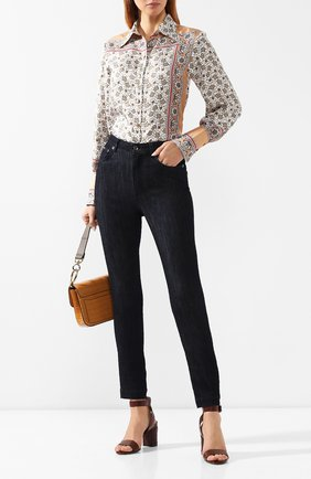 Женские джинсы DOLCE & GABBANA темно-синего цвета, арт. FTAH6D/G8BH0 | Фото 2
