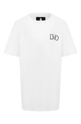 Женская хлопковая футболка NATASHA ZINKO разноцветного цвета, арт. PF19DU0512-06/95 | Фото 1