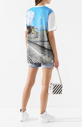 Женская хлопковая футболка NATASHA ZINKO разноцветного цвета, арт. PF19DU0512-06/95 | Фото 2