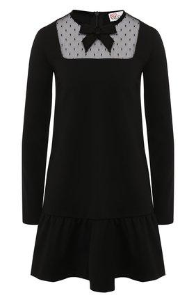Женское платье REDVALENTINO черного цвета, арт. SR0MJ03C/4Q9 | Фото 1