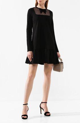 Женское платье REDVALENTINO черного цвета, арт. SR0MJ03C/4Q9 | Фото 2