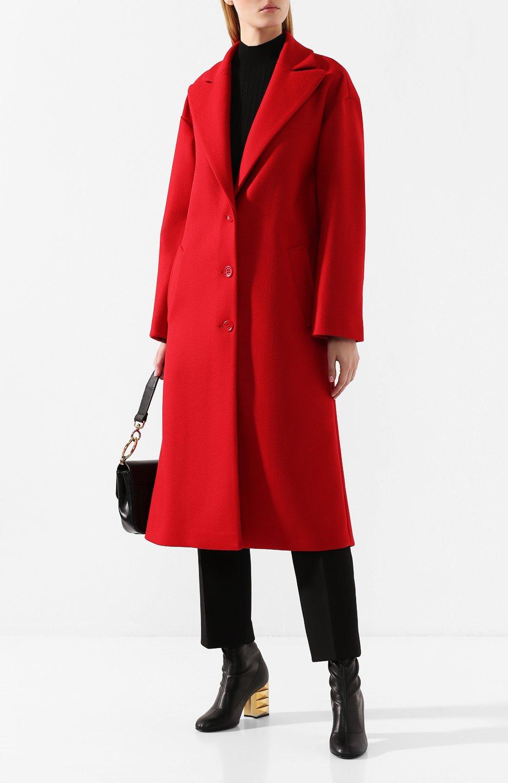 Женское шерстяное пальто REDVALENTINO красного цвета, арт. SR0CAA95/497 | Фото 2