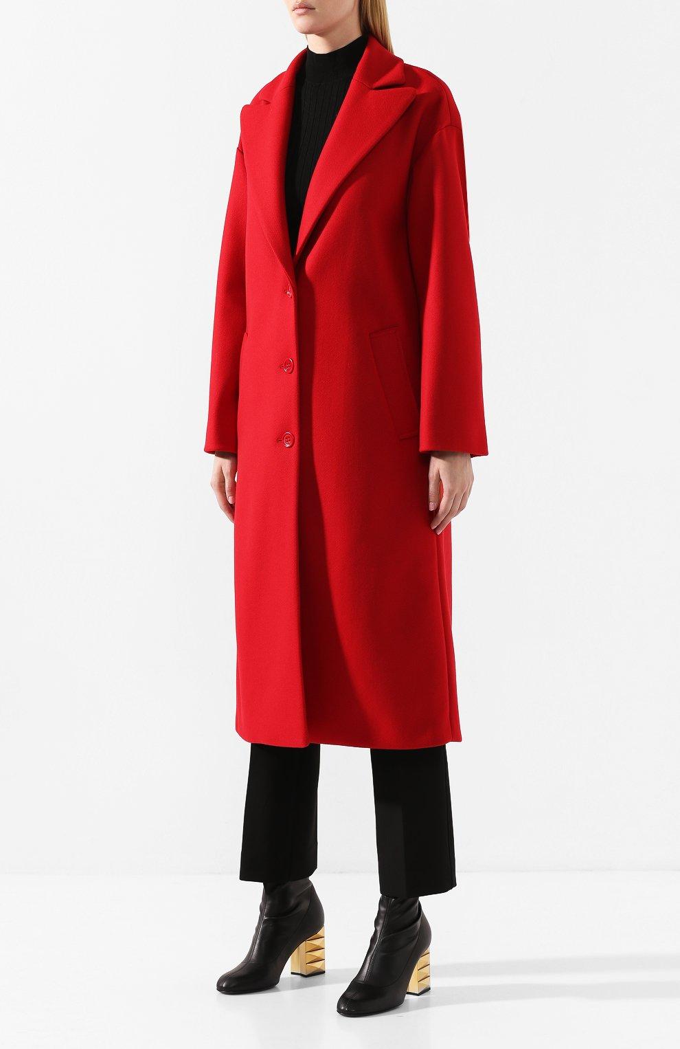 Женское шерстяное пальто REDVALENTINO красного цвета, арт. SR0CAA95/497 | Фото 3