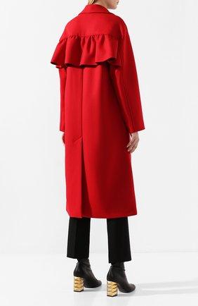 Женское шерстяное пальто REDVALENTINO красного цвета, арт. SR0CAA95/497 | Фото 4