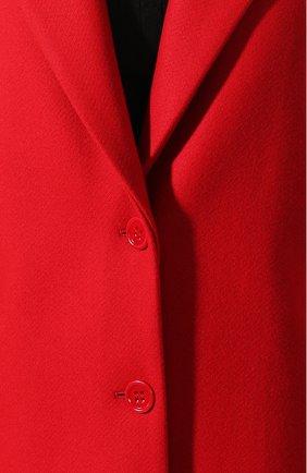 Женское шерстяное пальто REDVALENTINO красного цвета, арт. SR0CAA95/497 | Фото 5