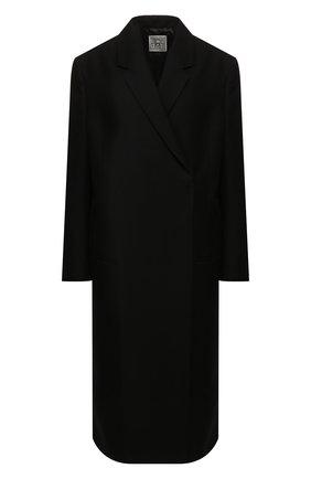 Женское пальто TOTÊME черного цвета, арт. V0LTERRA 193-201-700 | Фото 1