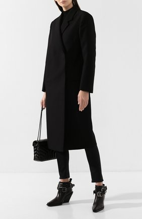 Женское пальто TOTÊME черного цвета, арт. V0LTERRA 193-201-700 | Фото 2