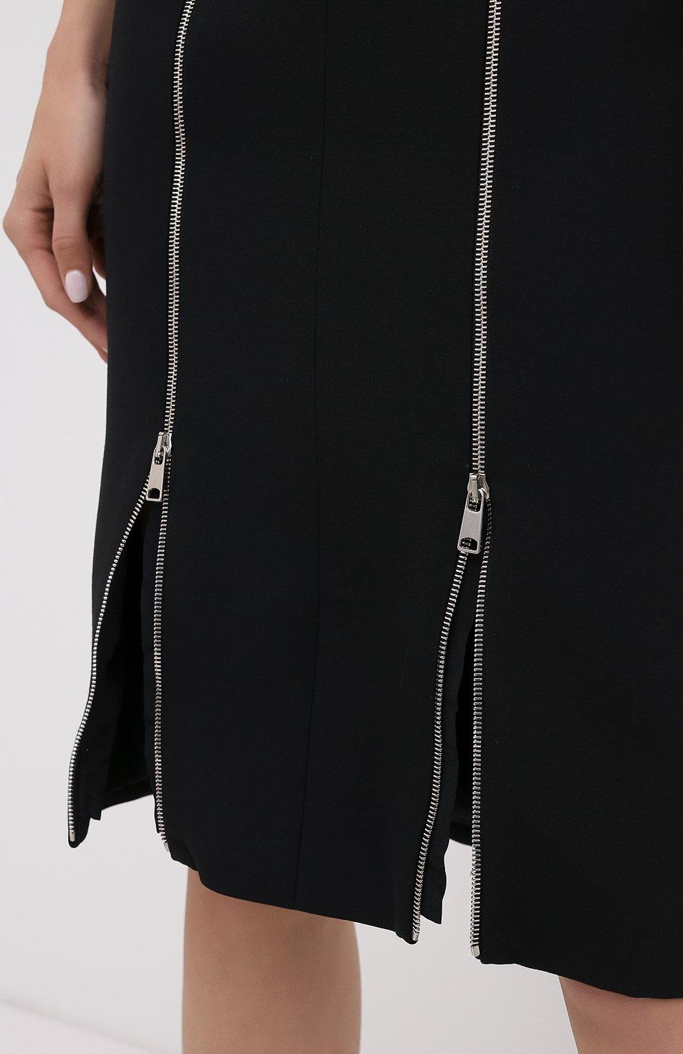 Платье из смеси шерсти и шелка | Фото №5