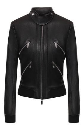 Женская кожаная куртка JITROIS черного цвета, арт. BL0US0N CHRIS B0RD C0TE APS EPAIS | Фото 1