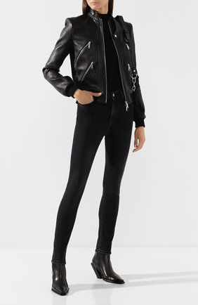 Женская кожаная куртка JITROIS черного цвета, арт. BL0US0N CHRIS B0RD C0TE APS EPAIS | Фото 2