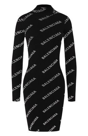 Женское платье BALENCIAGA черно-белого цвета, арт. 595196/T6140 | Фото 1