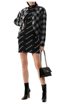 Женское платье BALENCIAGA черно-белого цвета, арт. 595196/T6140 | Фото 2