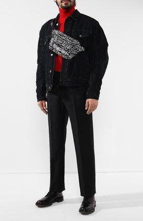 Мужская текстильная поясная сумка wheel BALENCIAGA черно-белого цвета, арт. 533009/9MIAN | Фото 2