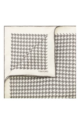Мужской шелковый платок TOM FORD бежевого цвета, арт. TFZ95/TF312 | Фото 1