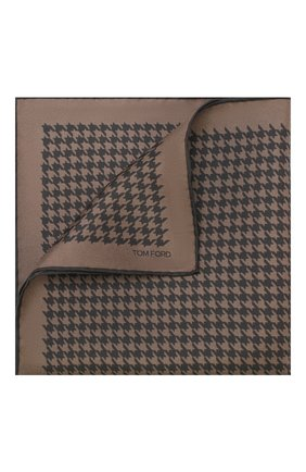 Мужской шелковый платок TOM FORD коричневого цвета, арт. TFZ95/TF312   Фото 1