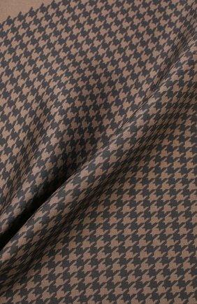Мужской шелковый платок TOM FORD коричневого цвета, арт. TFZ95/TF312   Фото 2
