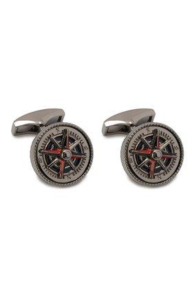 Серебряные запонки Columbus compass | Фото №1