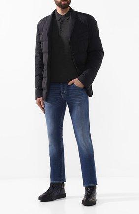 Мужские кожаные кеды SANTONI темно-синего цвета, арт. MBGL208700CNPG0TU60 | Фото 2
