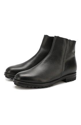 Мужские кожаные сапоги ANTONIO MAURIZI черного цвета, арт. 9783/MAMUT   Фото 1